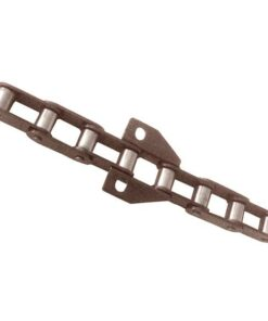 Steel roller chain attachments