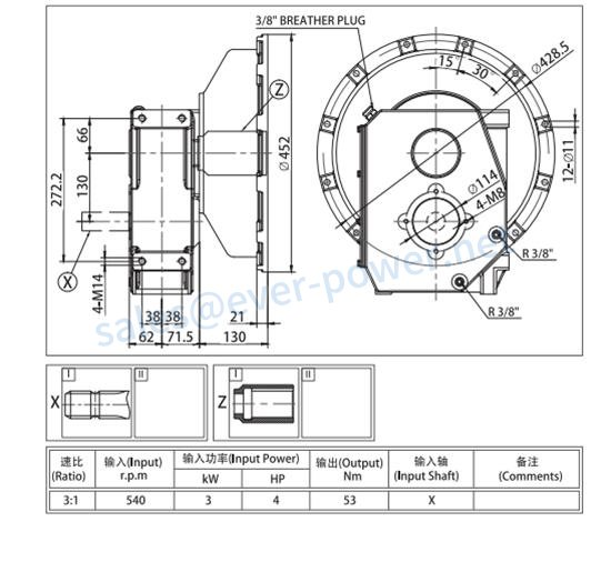 Agricultural Gearbox For Generator