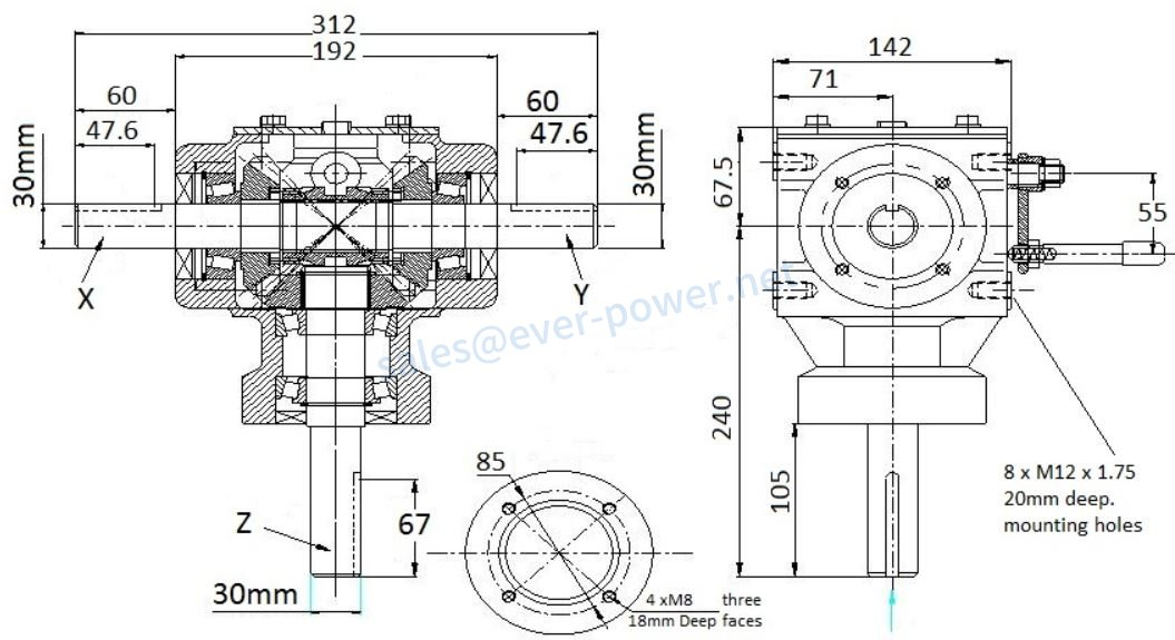 Auger Gearboxes
