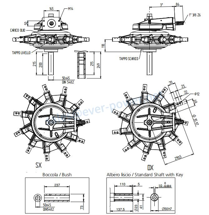 Side-Delivery Rake Gearbox