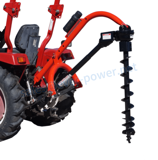 Pole-Star 650 Tractor-Mounted 3-Pt Post Hole Digger W/Optional Auger Combos