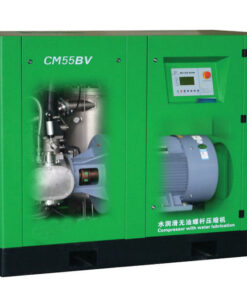 frequency conversion water lubrication oil free screw air compressor