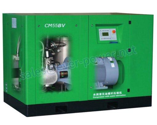Low pressure water lubrication oil-free screw air compressors