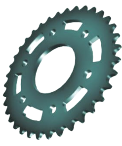 Aluminum Roller Chain Sprockets 1 2
