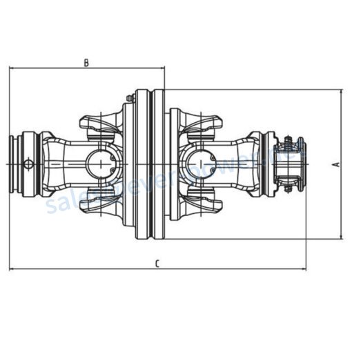 Constant velocity joint (SFT.80°) CV Series for PTO drive shafts