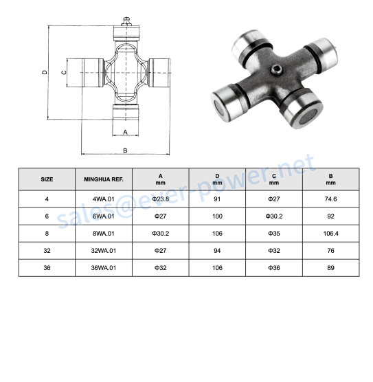 Cross Journal For Wide Angle Joit For Agricultural Pto Shaft