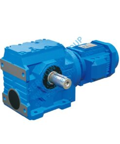 ES series helical worm geared motor