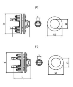 Friction torque limiter FFV1-FFV2 Series for PTO drive shafts - Friction torque limiter FFV1 FFV2 Series for PTO drive shafes 247x296