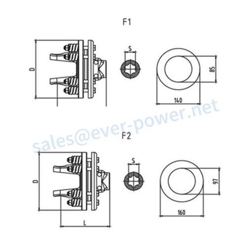 Friction torque limiter FFV1-FFV2 Series for PTO drive shafts
