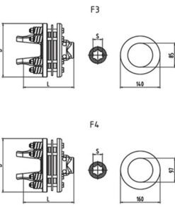 Friction torque limiter FFV3 FFV4 Series for PTO drive shafes