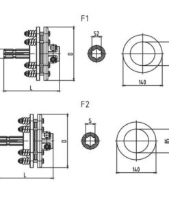 Friction torque limiter FFVS1 FFVS2 FFVS3 FFVS4 Series for PTO drive shafts