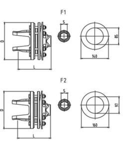 Friction torque limiter FFVT1-FFVT2 Series for PTO drive shafts - Friction torque limiter FFVT1 FFVT2 Series for PTO drive shafts 247x296