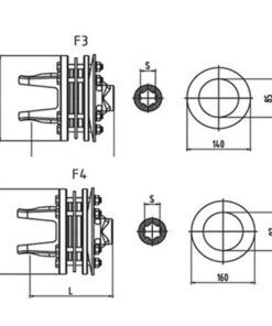 Friction torque limiter FFVT3 FFVT4 Series for PTO drive shafts