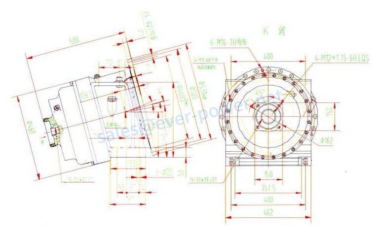 Gearbox For Concrete Truck Mixer E8A
