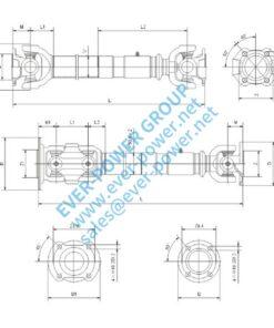 Light duty drive shaft - Light duty drive shaft 247x296