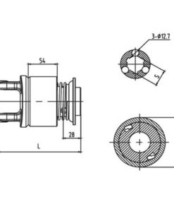 Overrunning clutch RL/RLS Series for PTO drive shafts - Overrunning clutch Series for PTO drive shafes 247x296