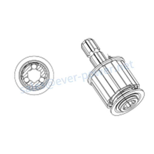 Ratchet torque limiter for agricultural pto shaft SAS3