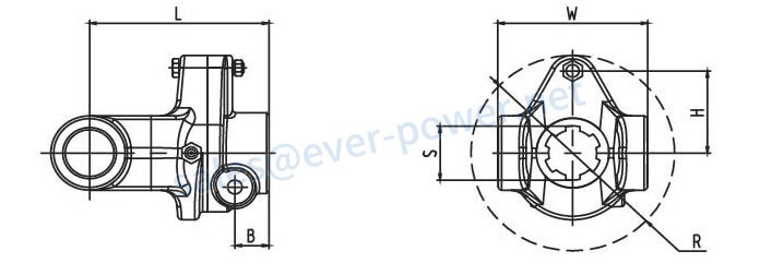 Shear bolt torque limiter SB Series for PTO drive shafts