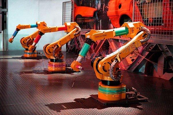 Ang paggalaw ng alon ng galaw - Robot